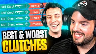 HIKO Reacts to 100T Steel's Best & Worst Valorant Clutches!