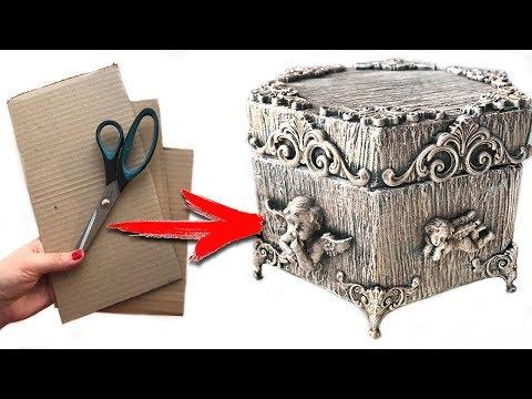 DIY Beautiful cardboard box | from cardboard