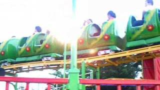 Nellie Bly Amusement Park In Coney Island Brooklyn New York Caterpillar TL*3 Roller Coaster Ride