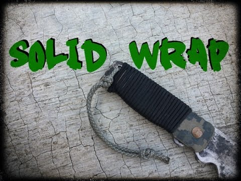 Paracord Wrap For Solid Handles Youtube