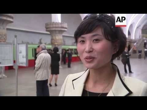 Foreign media shown new Pyongyang subway train