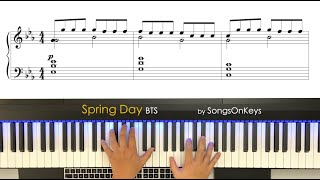 BTS - Spring Day (봄날) Piano Cover by SongsOnKeys