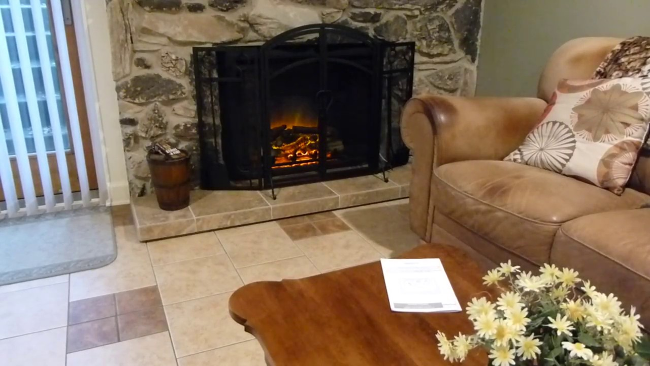 puraflame western 33 inch electric fireplace review youtube