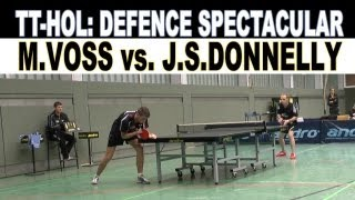 TT Spectacular Ballonabwehr | Abwehr Defence | HOL | Martin Voss vs. J.S. Donnelly | Ping Pong