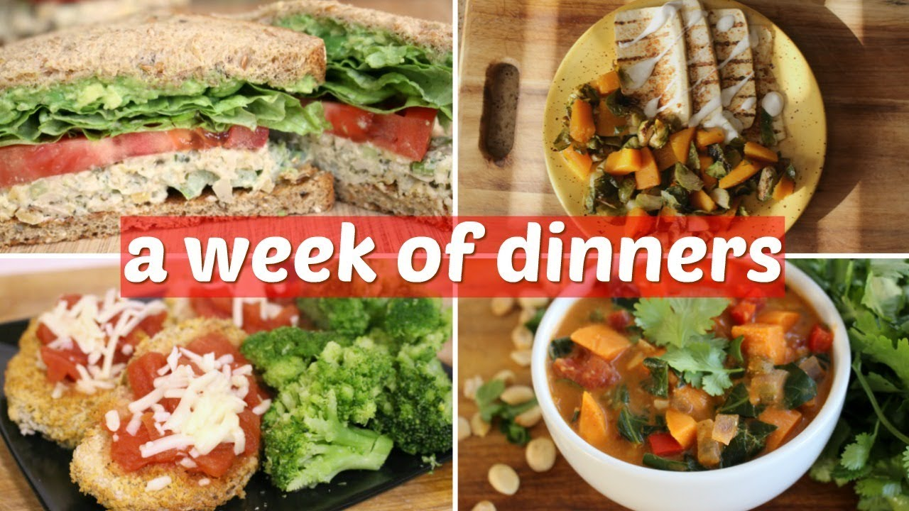 What I Eat In A Week 7 Easy Vegan Dinner Ideas Youtube