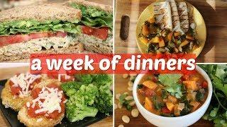 WHAT I EAT IN A WEEK // 7 EASY VEGAN DINNER IDEAS