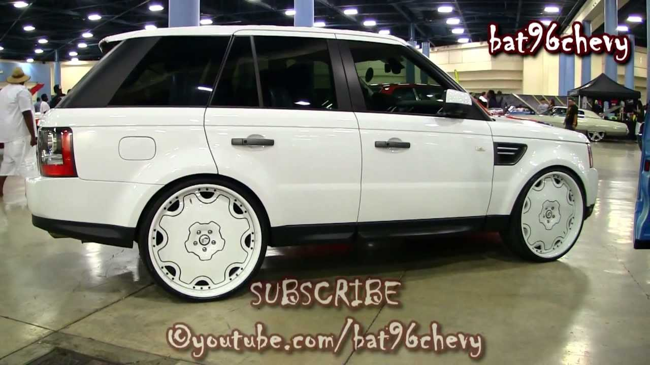 All White Range Rover On 26 Quot Forgiatos Staggered Wheels
