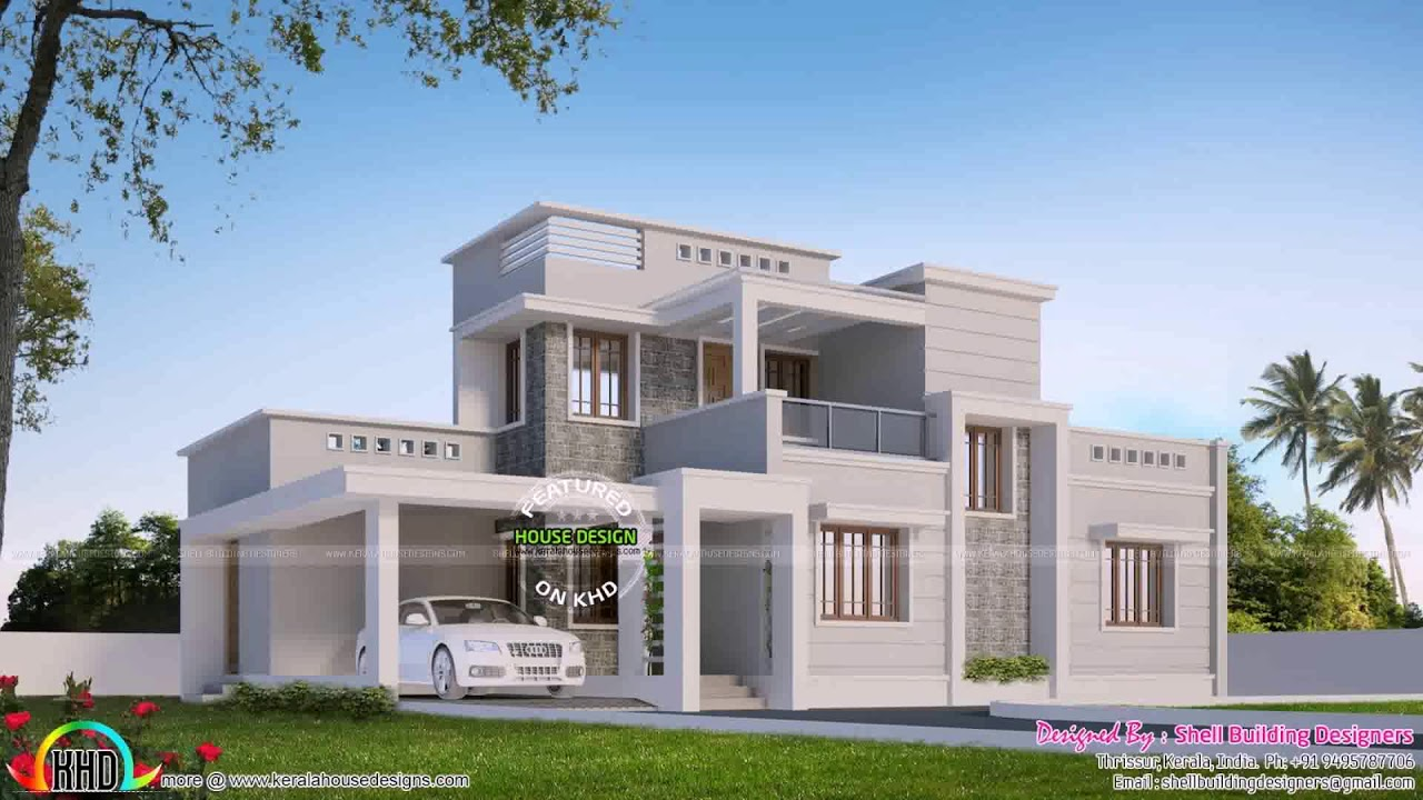 Box Type House Design In Kerala (see description) YouTube