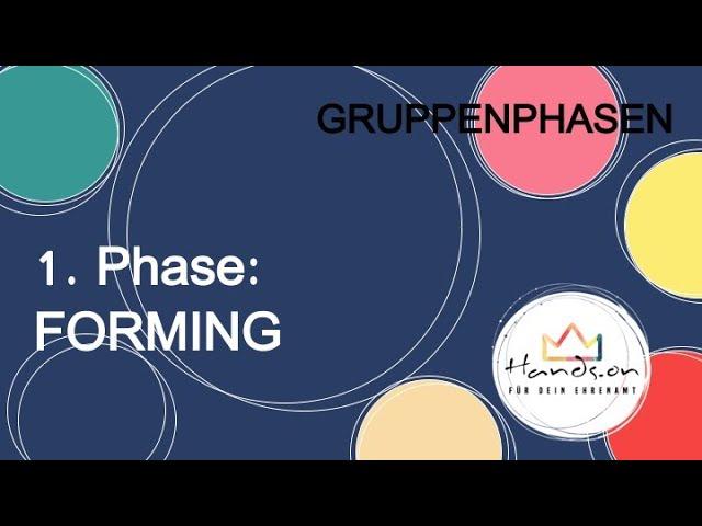 "Gruppenphasen, Teil 2 ""1. Phase: FORMING"""