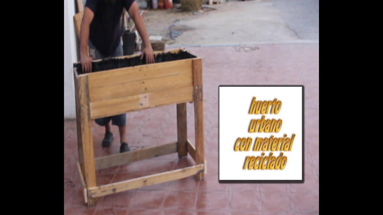 Fabricaci n mesa huerto urbano madera reciclada palet - Huerto urbano balcon ...
