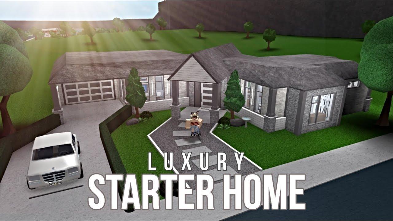 Bloxburg Luxury Starter Home 63k Youtube