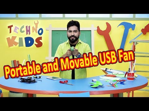 How To Make Portable And Movable USB Fan | Techno Kids Episode 03 | DIY Tricks And Life Hacks