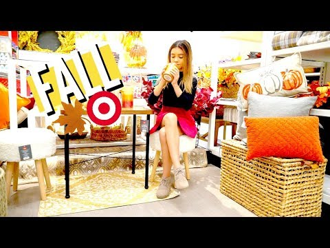 Shopping at Target for some fall decor essentials... 🍂🌆