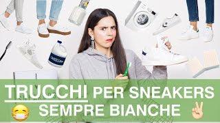Come pulire le scarpe bianche in 1 minuto! | Life hacks ita Sneakers bianche