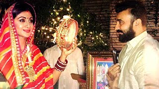 Shilpa Shetty's KARVA CHAUTH 2017 With Husband Raj Kundra Full Video HD