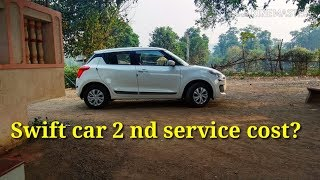 Maruti suzuki Swift 2nd service cost?