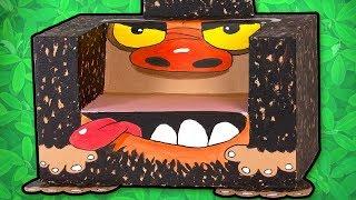 Gorillastol av papp!   Øisteins pappeske