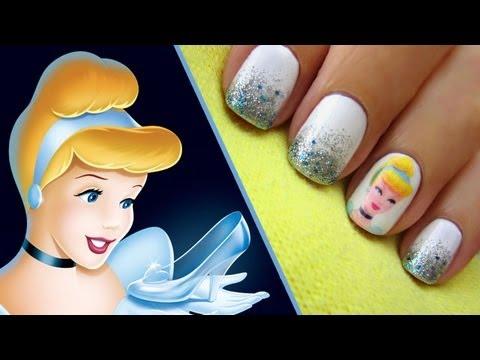 cinderella nail art tutorial
