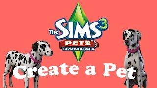 The Sims 3 Pets: Create A Pet - Dog (dalmatian)