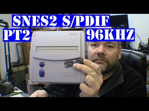 SNES2 s/pdif pt 2 - 96kHz mod digital audio via coax
