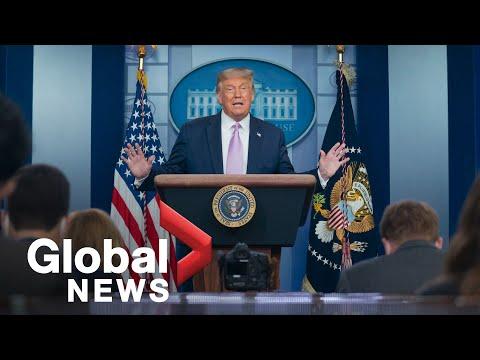 Coronavirus: Trump speaks
