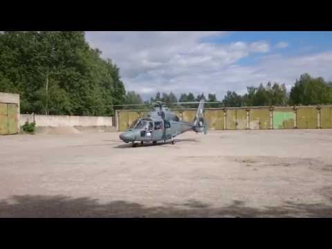 Eurocopter AS365 NS+ Dauphin start and takeof (HD)