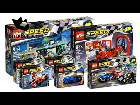 compilation all lego speed champions 2017 speed build youtube. Black Bedroom Furniture Sets. Home Design Ideas