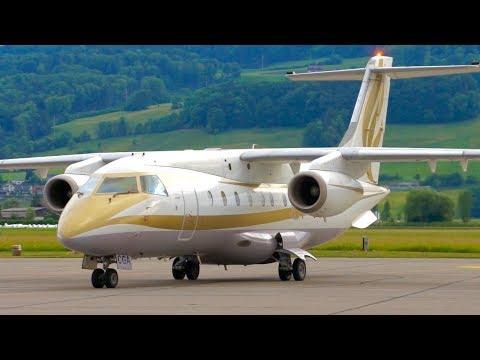 RARE! Dornier 328JET C5-CGA from Gambia Landing at Bern