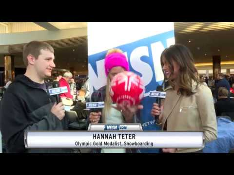 Super Bowl LII Radio Row: Hannah Teter Teams Up With Special Olympics