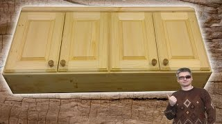 Настенная антресоль для кухни из дерева своими руками #3