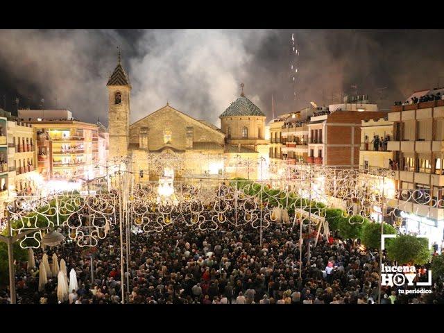VÍDEO: Llegada a la Plaza Nueva de la procesión de la Virgen de Araceli y fuegos artificiales