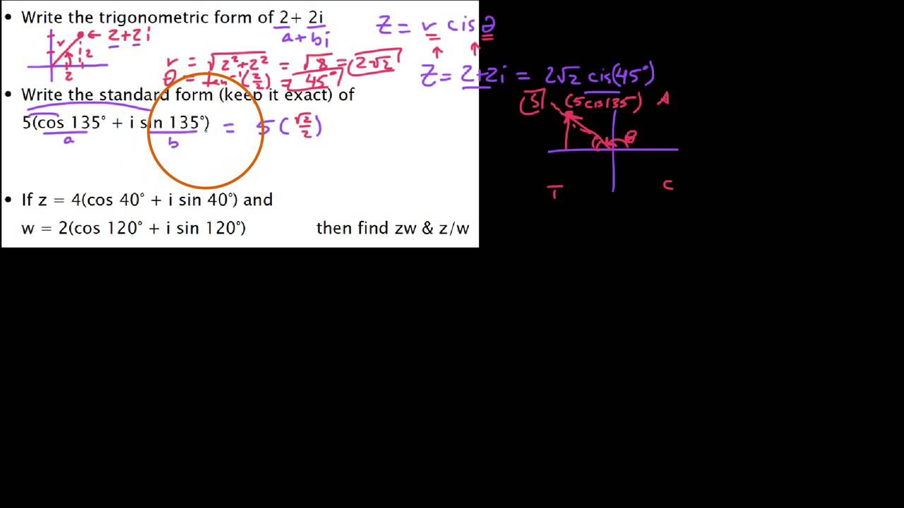 Hpc 655 converting from trig to standard forms of complex hpc 655 converting from trig to standard forms of complex numbers falaconquin