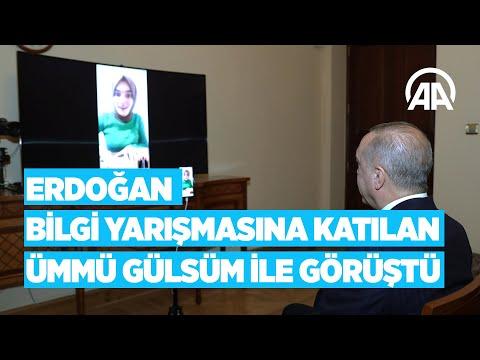 Cumhurbaşkanı Erdoğan Bilgi Yarışmasına Katılan Ümmü Gülsüm Genç Ile Görüştü