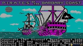 Pirates of the Barbary Coast gameplay (PC Game, 1986)