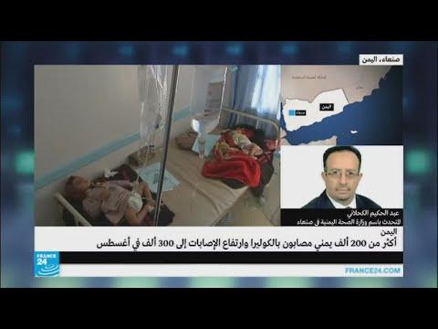 من أسباب انتشار الكوليرا في اليمن
