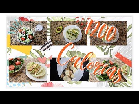 ¿Qué como en un día de dieta para bajar de peso? 1200 Calorías  (ALTO EN PROTEÍNAS)