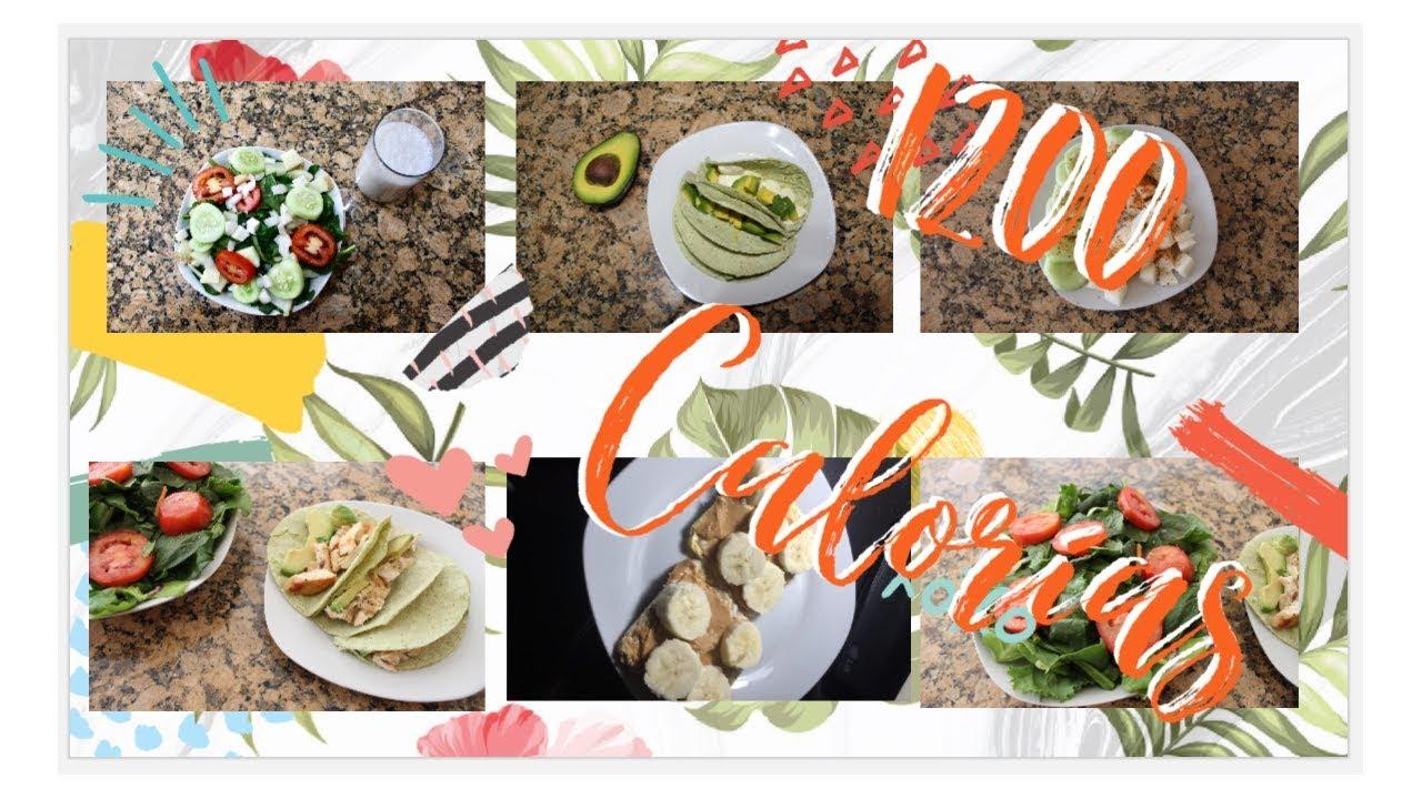 Preparación de comida 1200 calorías