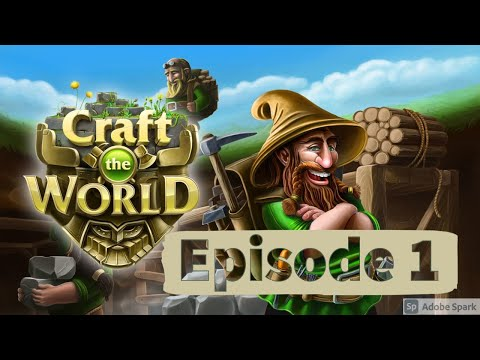 Let's Play | Craft the World | Episode 1 | Dwarf Survival Game |