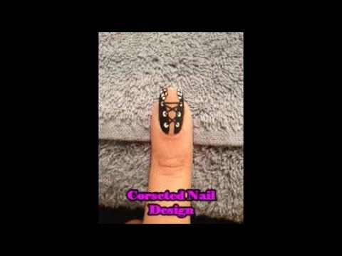 Nail Art: Fun And Flirty Corseted Nail Design
