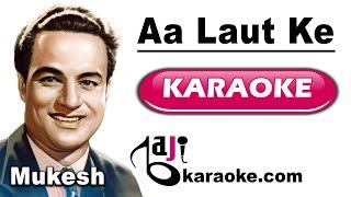 Aa laut ke aaja mere meet - Video Karaoke - Mukesh - by Baji Karaoke
