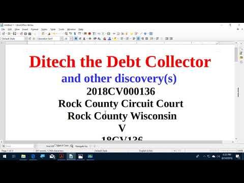 Ditech the Debt Collector