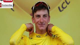 Giulio Ciccone in maglia Gialla al Tour de France 2019
