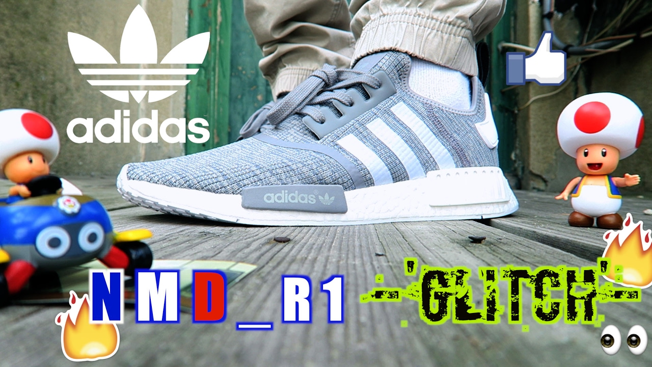 ADIDAS NMD R1 'GLITCH' Quick Look \\ u0026 On Foot