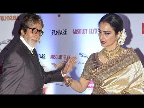 Here's What Rekha Did After Seeing Amitabh Bachchan At Filmfare Glamour And Style Awards
