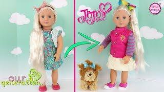 ????Mi Propia Muñeca JoJo Siwa ????Transformando una muñeca Our Generation en JoJo Siwa Doll