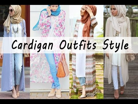 Casual Hijab Fashion Cardigan Outfits Style Youtube