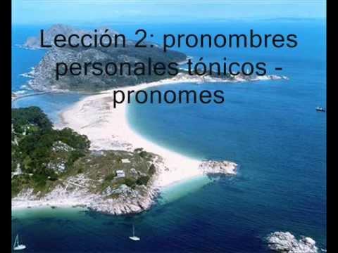 Lección 2: Pronomes Persoais Tónicos (1)