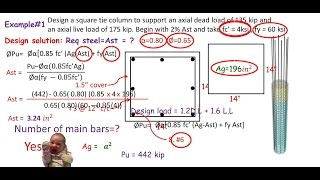 2)English-Design of a Square reinforced concrete column based on ACI codes part 2/2