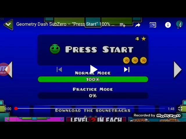 Video Reaccion a Geometry Dash Subzero