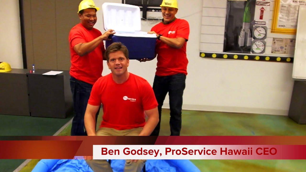 ProService Hawaii CEO Ben Godsey ALS Challenge YouTube - Proservice hawaii
